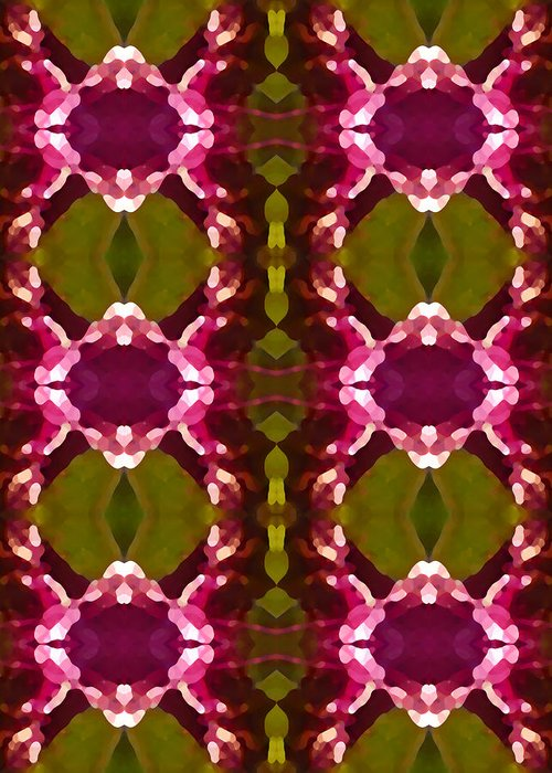 Abstract Greeting Card featuring the painting Magenta Crystal Pattern by Amy Vangsgard