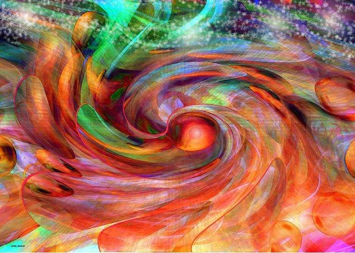 Magical Energy Greeting Card featuring the digital art Magical Energy by Linda Sannuti