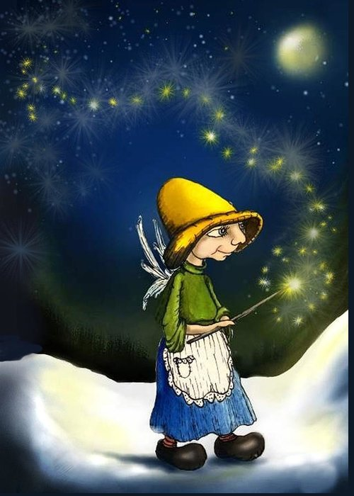 Fairy With Magic Wand Fantasy Art Greeting Cards