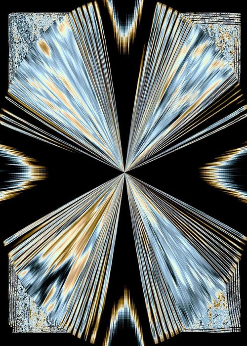 Abstract Greeting Card featuring the digital art Magnetism 2 by Will Borden
