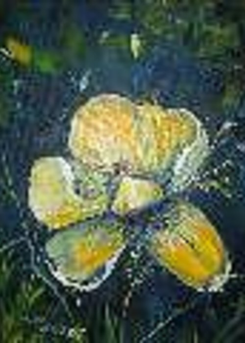 Flower Greeting Card featuring the painting Magnolia by Impressionist FineArtist Tucker Demps Collection
