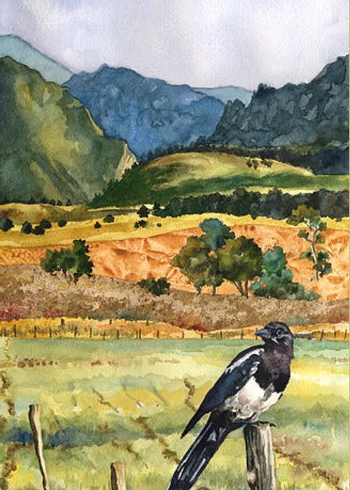 Magpies Greeting Cards