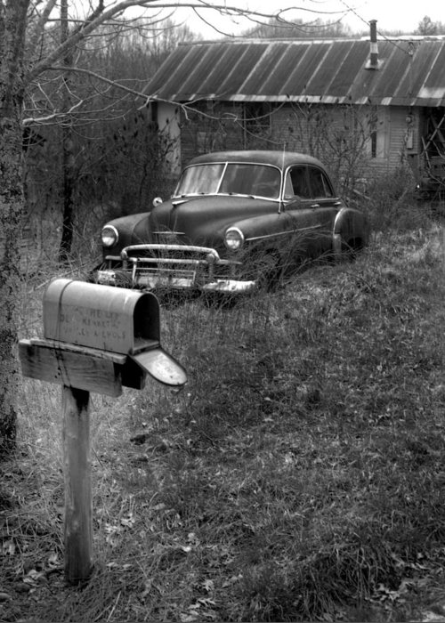 Ansel Adams Greeting Card featuring the photograph Mailboxcar by Curtis J Neeley Jr