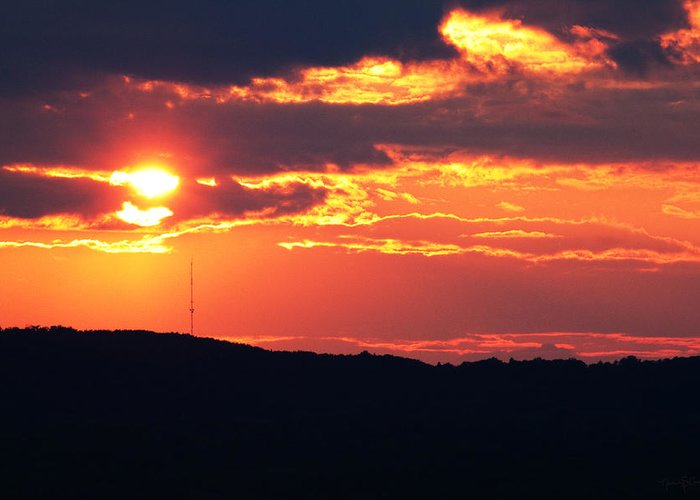 Sunset Greeting Card featuring the photograph Main Attraction by Nancy Coelho
