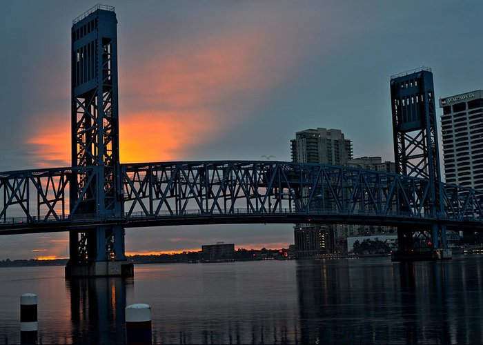 Jacksonville Greeting Card featuring the photograph Main Street Sunrise by William Jones