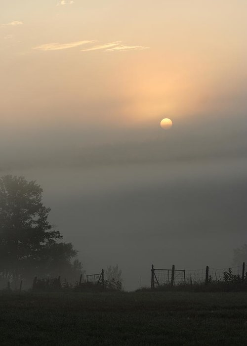 Landscape Greeting Card featuring the photograph Maine Morning 2 by Doug Mills