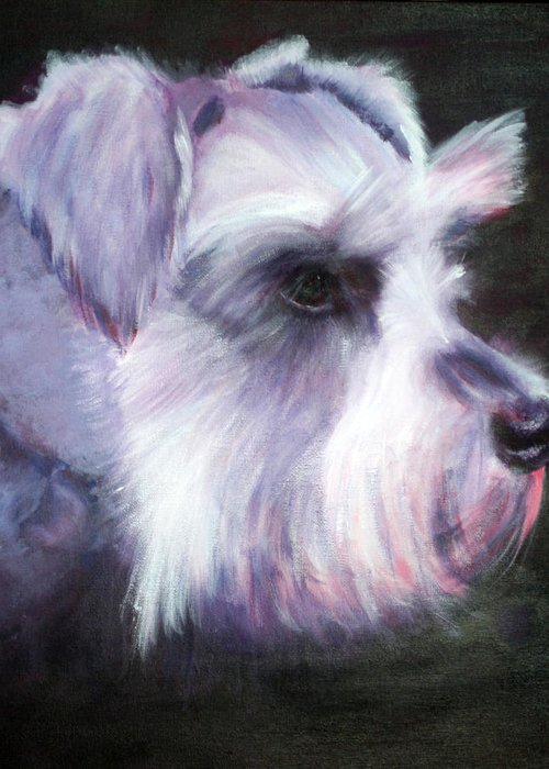 Dog Greeting Card featuring the painting Maizee by Fiona Jack