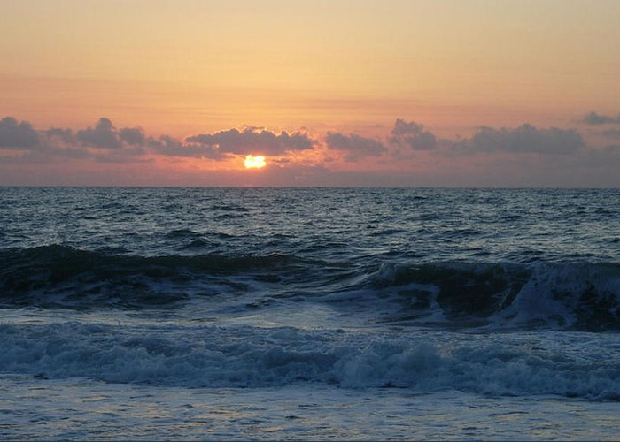 Majestic Greeting Card featuring the photograph Majestic Atlantic Sunrise by Stephanie H Johnson