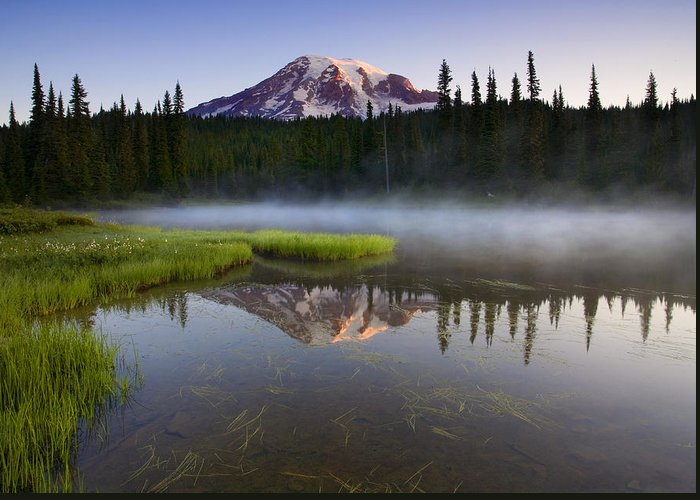 Lake Greeting Card featuring the photograph Majestic Dawn by Mike Dawson