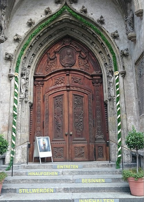 Magestic Door Greeting Card featuring the photograph Majestic door by Heidi Sieber