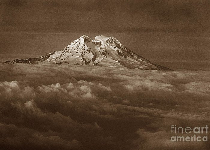 Mountains Greeting Card featuring the photograph Majestic Mt. Rainier by Michael Ziegler