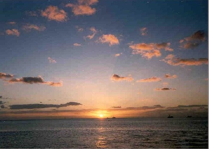 Sun Greeting Card featuring the photograph Majestic Ocean Sunset by Our Place Of Joy