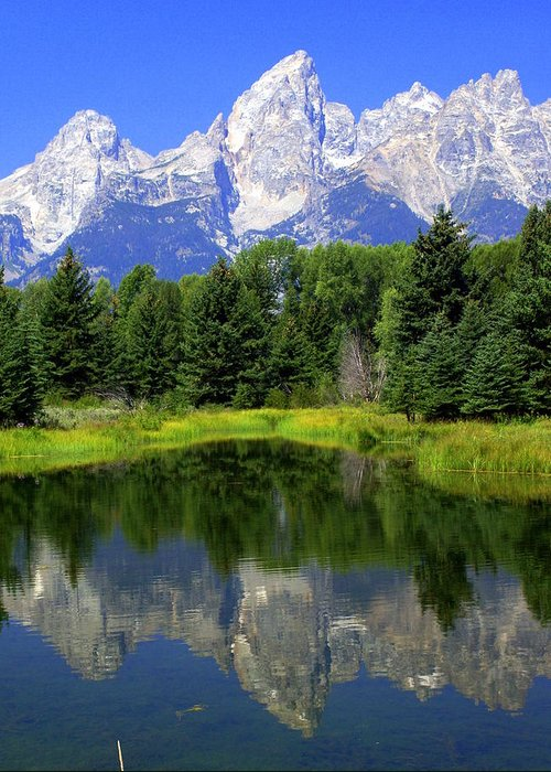 Grand Teton National Park Greeting Card featuring the photograph Majestic Tetons by Marty Koch