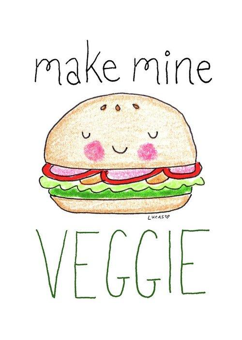 Hamburger Drawings Greeting Cards