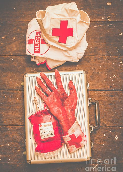 Make your own frankenstein medical kit greeting card for sale by body parts greeting card featuring the photograph make your own frankenstein medical kit by jorgo photography m4hsunfo