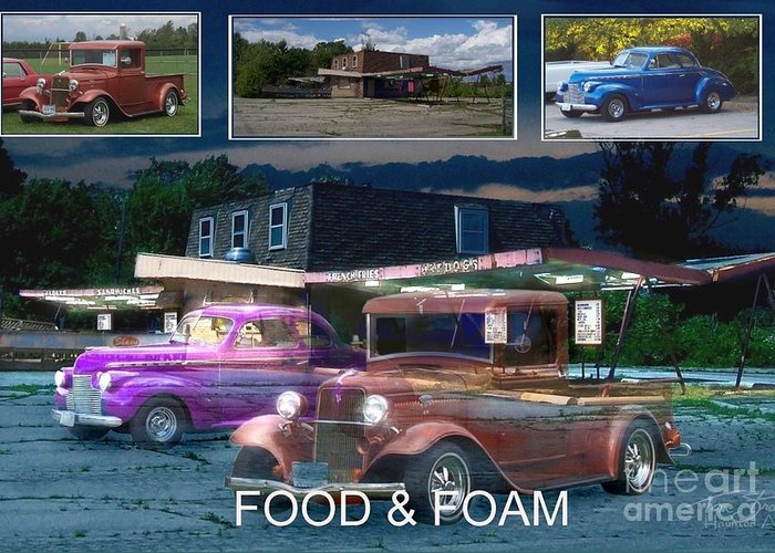 Paranormal Greeting Card featuring the photograph Making Of Food And Foam by Tom Straub