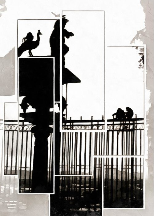 Kuala Lumpur Greeting Card featuring the photograph Malaysian Shadows by Dorothy Berry-Lound