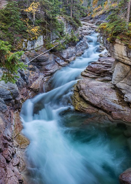 5dsr Greeting Card featuring the photograph Maligne River In Autumn by Pierre Leclerc Photography