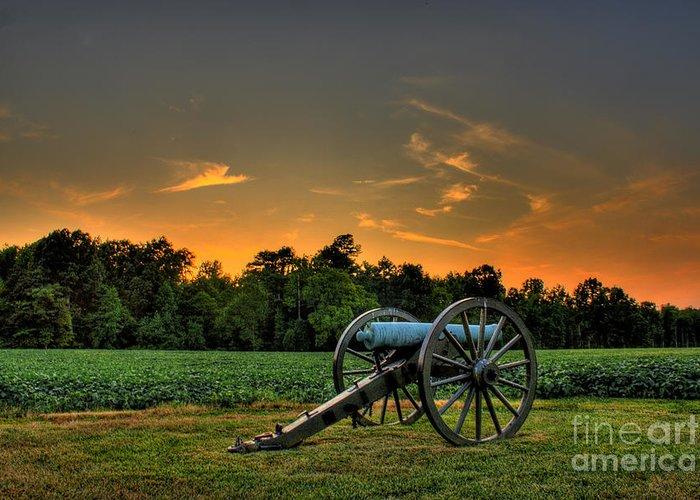 Civil War Greeting Card featuring the photograph Malvern Hill Battlefield by Tim Wilson