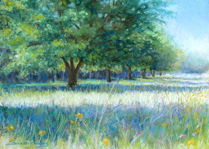 Landscape Greeting Card featuring the pastel Mama's Day by Susan Jenkins