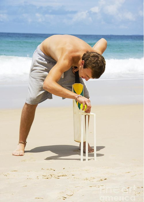 Cricket Players Greeting Cards