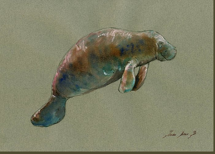 Manatees Greeting Cards