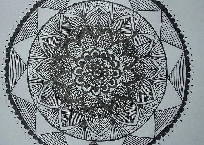 Mandal Drawings Greeting Cards