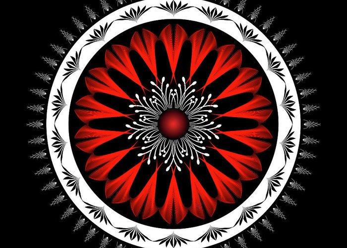 Mandala Greeting Card featuring the digital art Mandala No. 98 by Alan Bennington