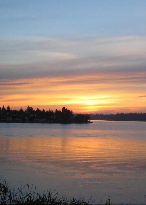 Sunrise Greeting Card featuring the photograph Manette Sunrise by Valerie Josi