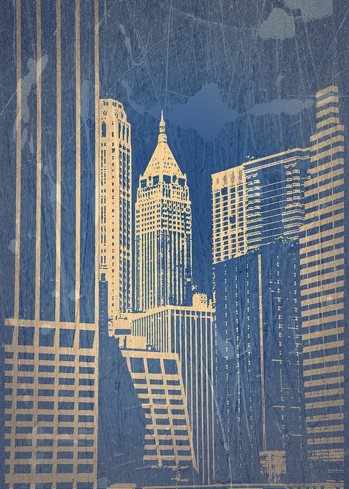 Chrysler Building Greeting Card featuring the photograph Manhattan 1 by Naxart Studio