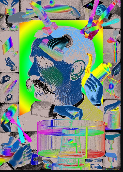 Hands Greeting Card featuring the digital art Manipulation by Eric Edelman