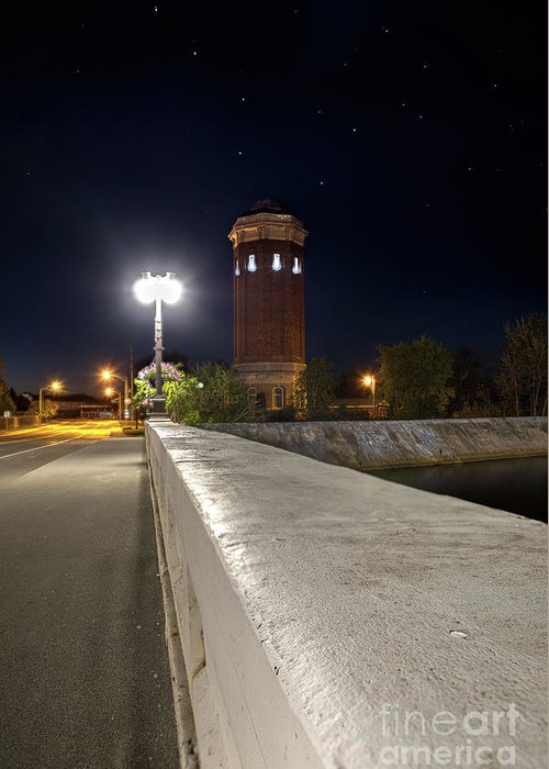 Manistique Greeting Card featuring the photograph Manistique Water Tower Big Dipper -2293 by Norris Seward