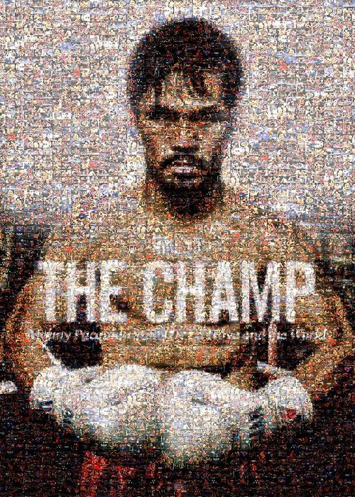 Manny Pacquiao Greeting Card featuring the digital art Manny Pacquiao-the Champ by Ted Castor