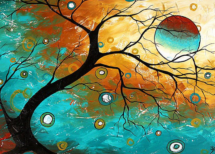 Art Greeting Card featuring the painting Many Moons Ago By Madart by Megan Duncanson
