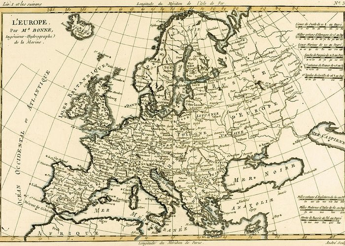 Map Of Europe For Sale.Map Of Europe Greeting Card For Sale By Guillaume Raynal