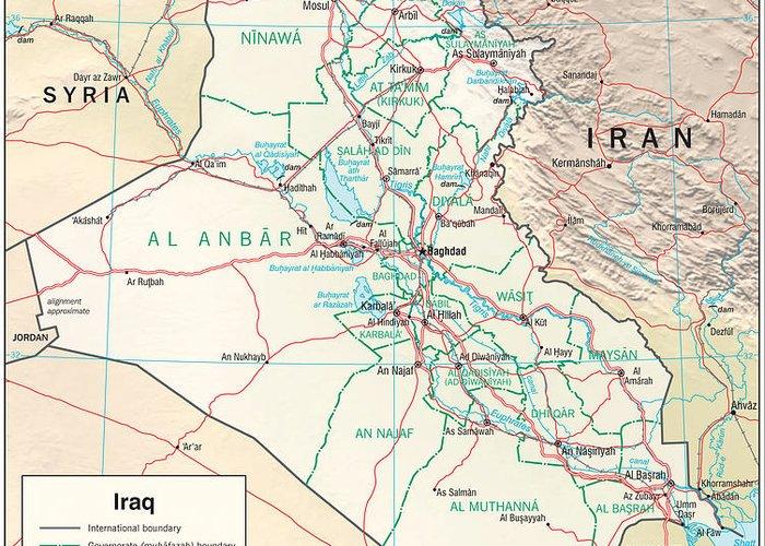 Baghdad Mixed Media Greeting Cards