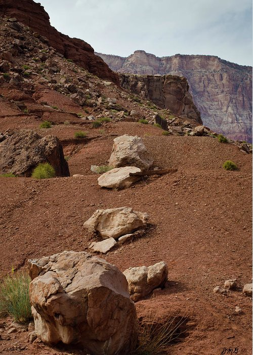 Marble Greeting Card featuring the photograph Marble Canyon Vii by David Gordon