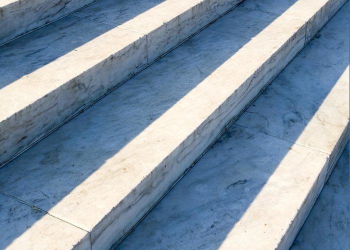 Architectural Detail Greeting Card featuring the photograph Marble Steps, Jefferson Memorial, Washington Dc, Usa, North America by Paul Edmondson
