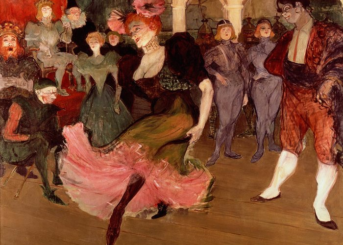 Lautrec Greeting Card featuring the painting Marcelle Lender Dancing The Bolero In Chilperic by Henri de Toulouse Lautrec