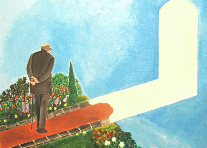 March Greeting Card featuring the painting March Of Age by Darren Stein