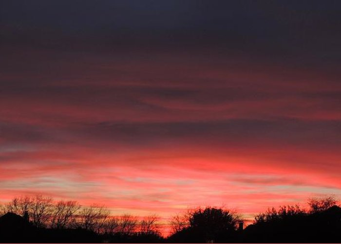 Sunset Greeting Card featuring the photograph March Sunset by Sarah Avignone