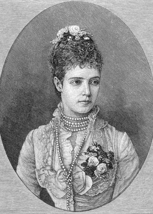 19th Century Greeting Card featuring the photograph Maria Fyodorovna by Granger