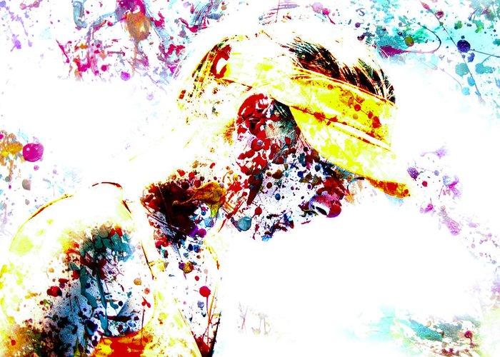 Maria Sharapova Digital Art Greeting Cards
