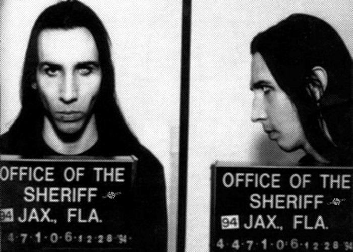 Marilyn Manson Mug Shot Horizontal Greeting Card For Sale By Tony Rubino