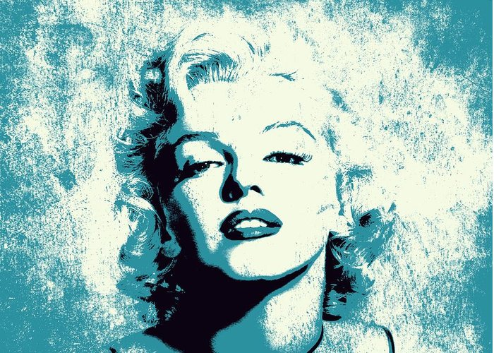 Marylin Greeting Card featuring the digital art Marilyn Monroe - 201 by Variance Collections