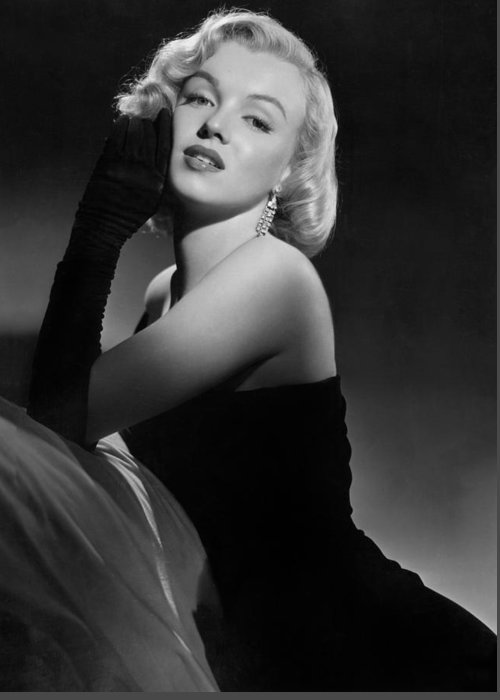 Marilyn Greeting Card featuring the photograph Marilyn Monroe by American School