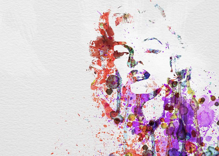 Marilyn Monroe Greeting Card featuring the painting Marilyn Monroe by Naxart Studio