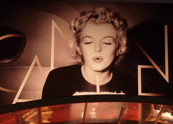 Marilyn Greeting Card featuring the photograph Marilyn Over The Red Carpet by Christine Burdine