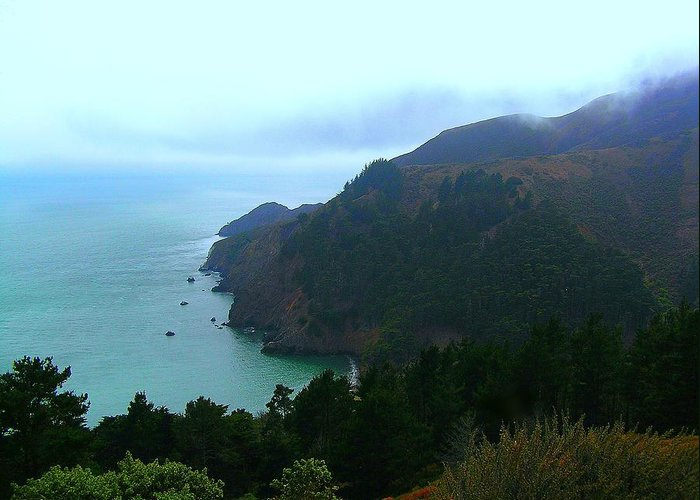 Marin Headlands Greeting Card featuring the photograph Marin Headlands In San Francisco California by Jen White