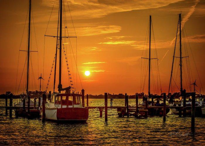 Florida Greeting Card featuring the photograph Marina Sunset by Robert Schmitt